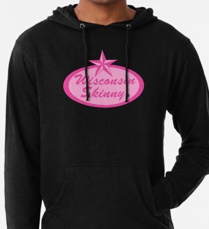 Wisconsin Skinny Logo Pink Lightweight Hoodie
