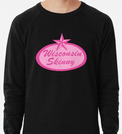 Wisconsin Skinny Logo Pink Lightweight Sweatshirt