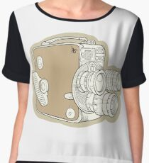 Vintage Camera Chiffon Top