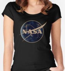 NASA at Night Women's Fitted Scoop T-Shirt