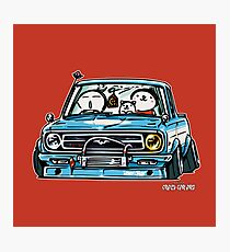 Crazy Car Art 0144 Photographic Print