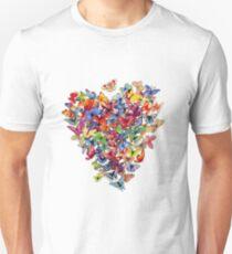 butterfly heart Unisex T-Shirt