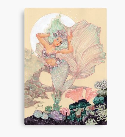 Frozen Mermaid Canvas Print