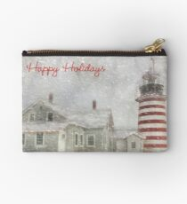 West Quoddy Christmas Studio Pouch