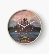 Tangled Lantern Painting Clock