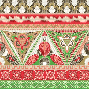 Tribal Aztec pattern in earthy shades by flynshooter