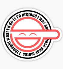 smile man ghost in the shell Sticker