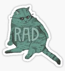 rad cat Sticker