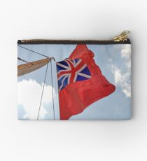 British ensign flag on ship, Brest 2008 Maritime Festival, Brittany, France Studio Pouch