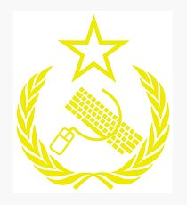 Communist Keyboard & Mouse Photographic Print