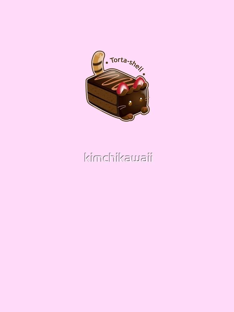 Purrista Pawfee: Cute Chocolate Cake Cat by kimchikawaii