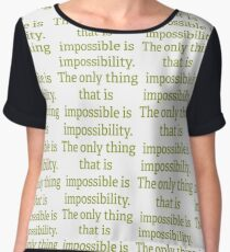 Phineas - Phineas and Ferb Quote Chiffon Top
