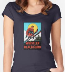 Whistler Blackcomb Vintage Ski Decal Women's Fitted Scoop T-Shirt
