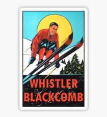 Whistler Blackcomb Vintage Ski Decal Sticker