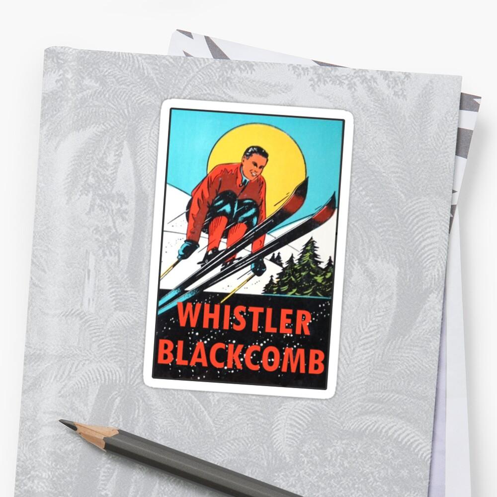 Whistler Blackcomb Vintage Ski Aufkleber Sticker Vorne
