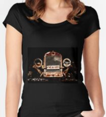 Grunge Tractor Women's Fitted Scoop T-Shirt