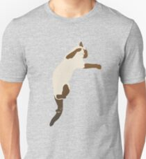 Leaping Siamese Cat Unisex T-Shirt