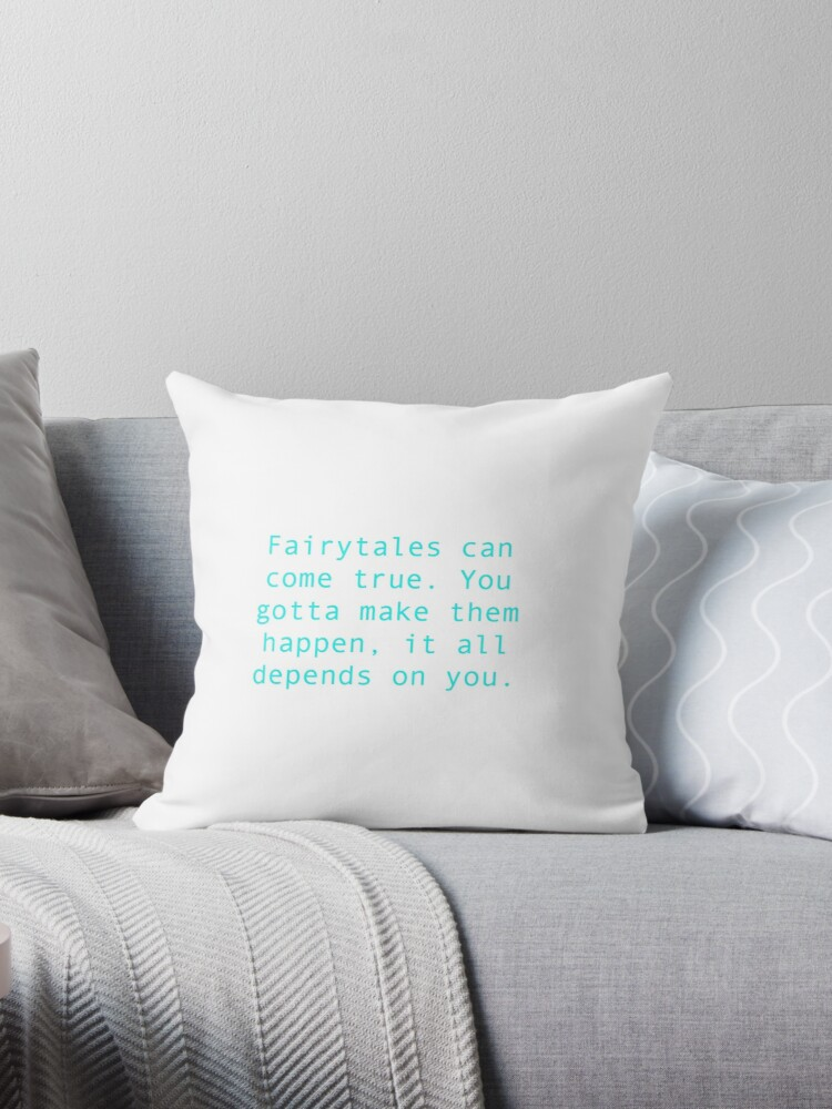 Tiana Princess And The Frog Quote Throw Pillows By Emus Redbubble