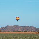 Flying in a balloon near the mountains. by barnsis