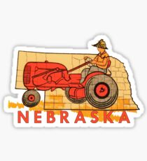 Vintage Nebraska Travel Decal Sticker