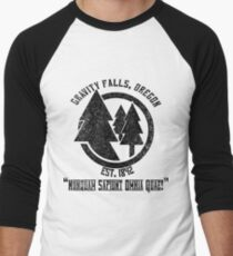 Gravity Falls Town Emblem & Motto Men's Baseball ¾ T-Shirt
