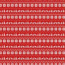 Wire Fox Terrier Silhouettes Christmas Sweater Pattern by Jenn Inashvili