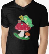 Bookish Frog in color Mens V-Neck T-Shirt
