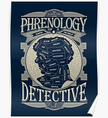 Phrenology of a detective - Sherlock Poster