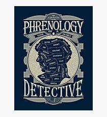 Phrenology of a detective - Sherlock Photographic Print