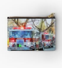 Firefighters - Line of Fire Engines in Parade Studio Pouch