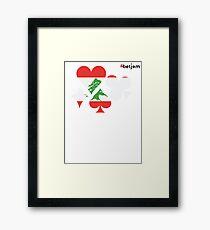 Lebanon Poker Framed Print