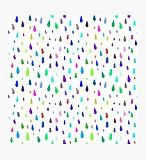 Pattern with colorful raindrops Photographic Print