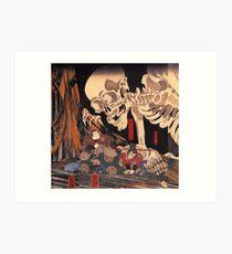 Mitsukuni defying the skeleton spectre Art Print