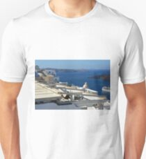 White architecture in Santorini, Greece T-Shirt