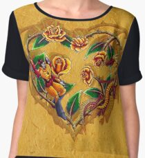 Rodimus & Roses - With Background Chiffon Top
