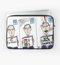reaction to business news headlines Laptop Sleeve