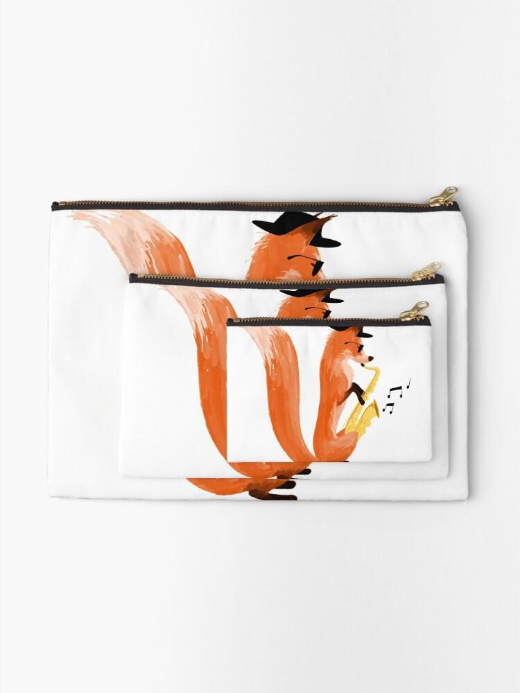Alternate view of Jazzy Fox Zipper Pouch