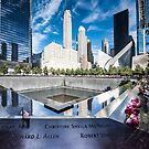 Twin towers 911 memorial pool by Colin White