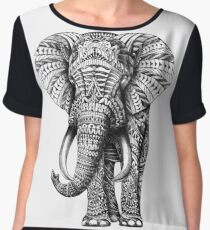 Ornate Elephant Chiffon Top
