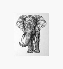 Ornate Elephant Art Board Print