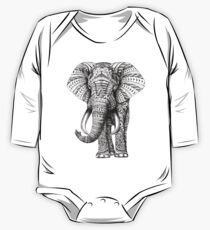 Ornate Elephant One Piece - Long Sleeve