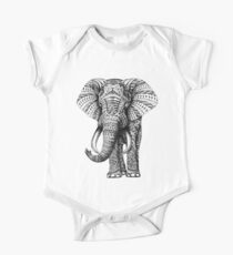 Ornate Elephant One Piece - Short Sleeve
