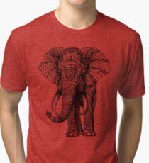 Camiseta de tejido mixto Elefante adornado