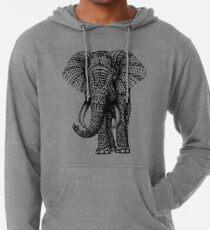 Verzierter Elefant Leichter Hoodie