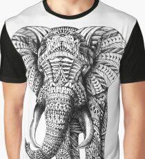 Verzierter Elefant Grafik T-Shirt