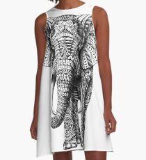 Ornate Elephant A-Line Dress