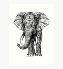 Lámina artística Elefante adornado