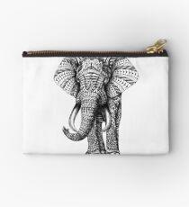 Ornate Elephant Zipper Pouch