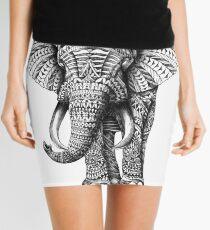 Ornate Elephant Mini Skirt