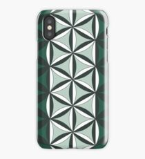 Sacred Geometry: Flower Of Life - Sacred Duality (Green) iPhone Case/Skin